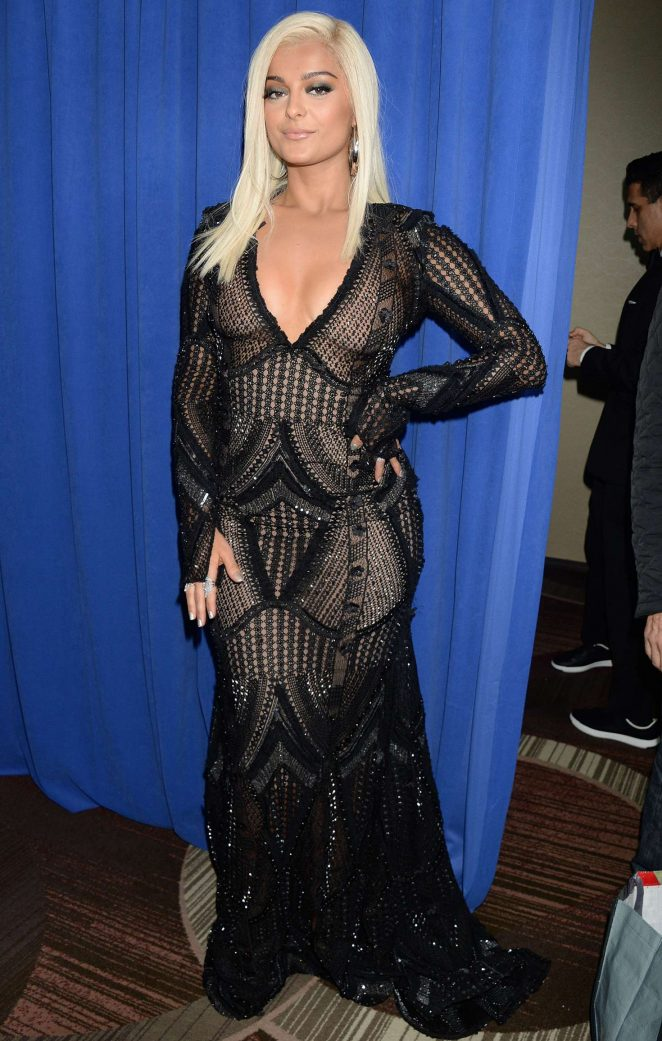 Bebe Rexha: 2018 Pre-Grammy Gala and Salute to Industry ...