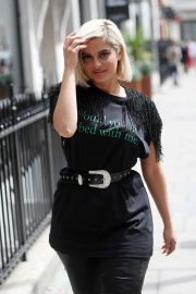 Bebe Rexha - Arrives at Kiss Fm Studios in London
