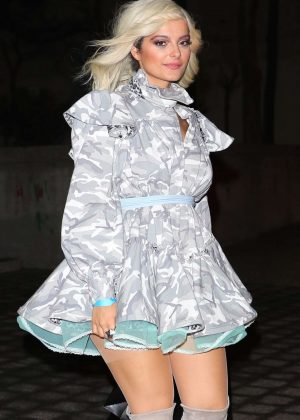 Bebe Rexha at Marc Jacobs private party in New York