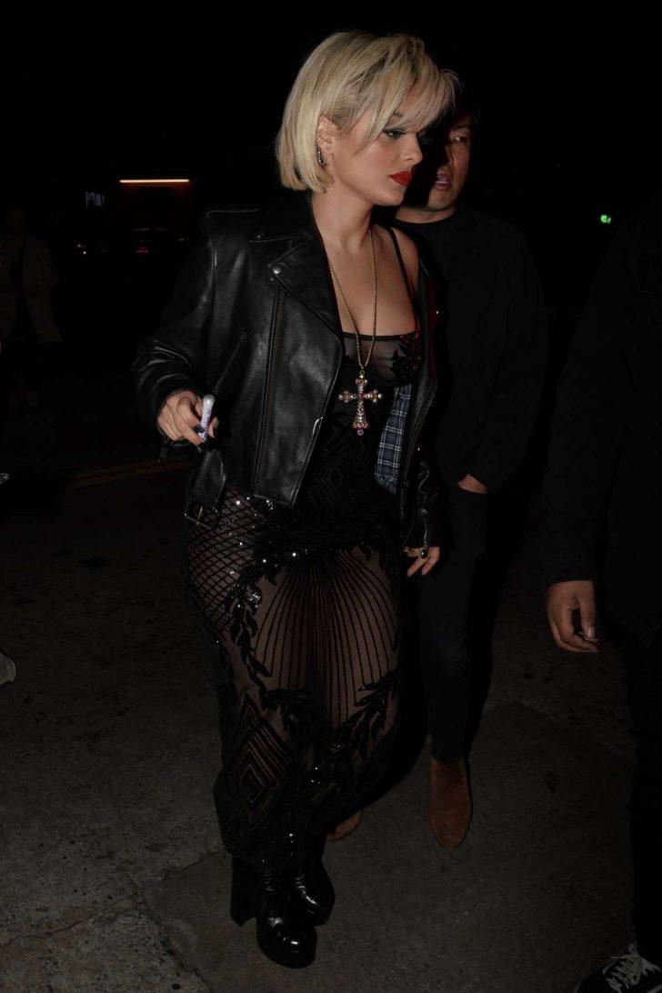 Bebe Rexha in Black Dress -01