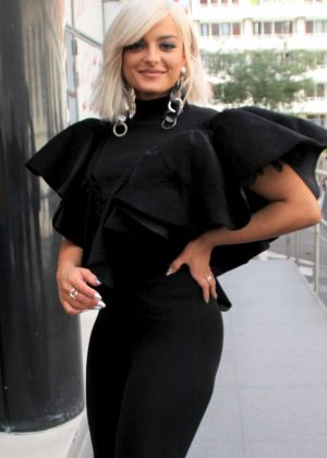 Bebe Rexha in Black Outfit - Out in Paris