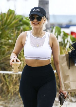 Bebe Rexha Leaving the beach in Miami