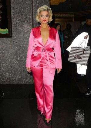 Bebe Rexha - Leaving The Tonight Show Starring Jimmy Fallon in NYC