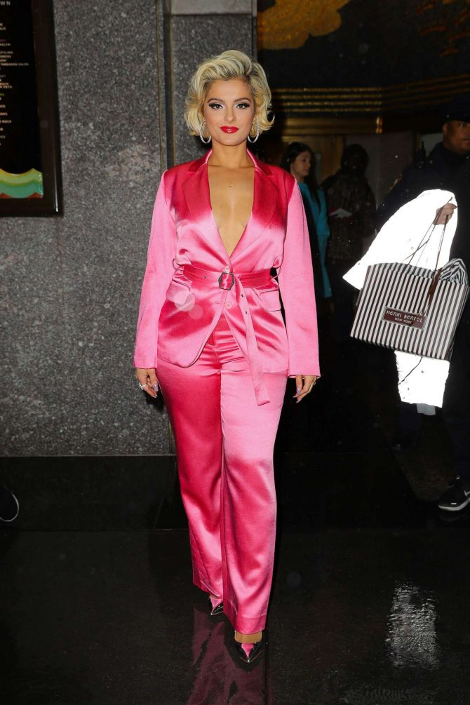 Bebe Rexha – Leaving The Tonight Show Starring Jimmy Fallon in NYC