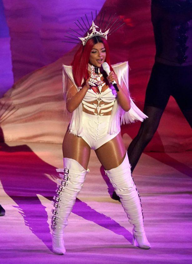 Bebe Rexha - Perform at 2020 American Music Awards in Los Angeles