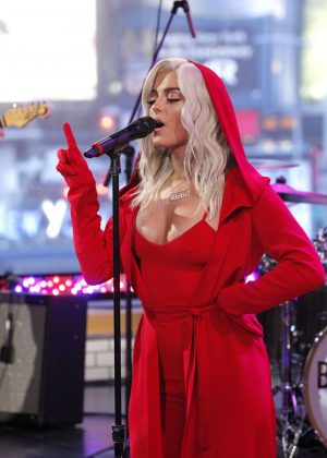 Bebe Rexha - Performs at Good Morning America in New York