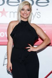 Bebe Rexha - The new face of Bebe poses during an appearance in New York