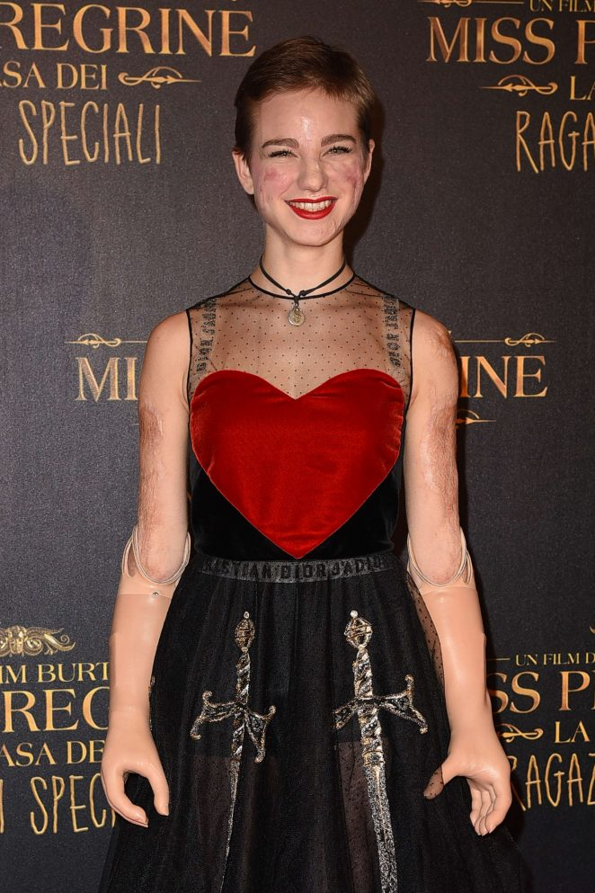 Bebe Vio - 'Miss Peregrine's Home for Peculiar Children' Premiere in Rome