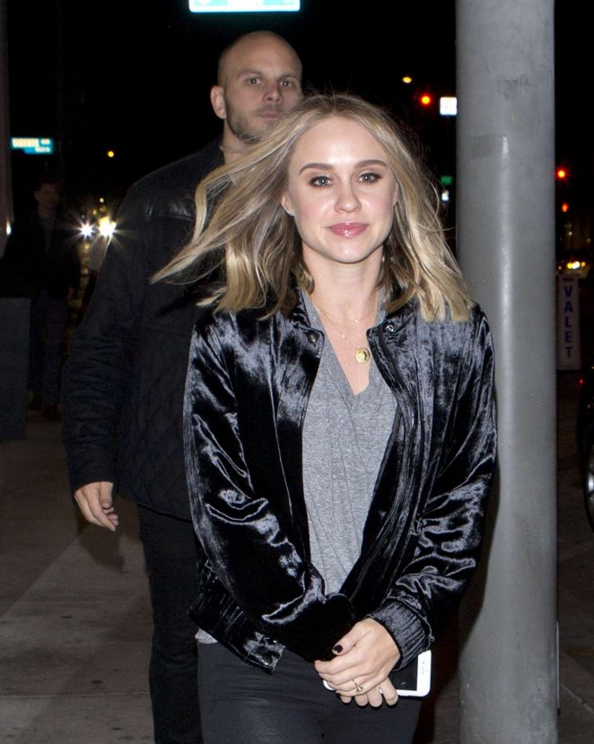Becca Tobin - Arriving at Catch Restaurant in West Hollywood