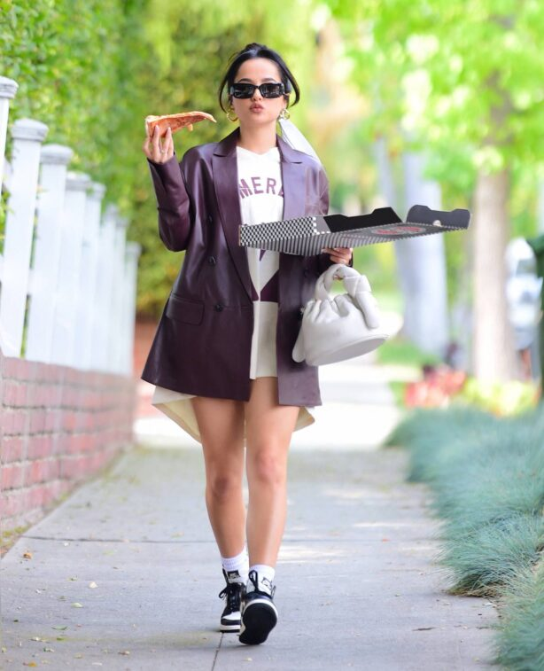 Becky G - Grabs Pizza as she is spotted out in West Hollywood
