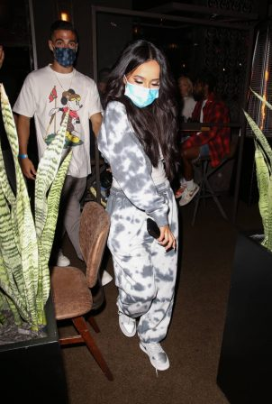Becky G - Is seen leaving dinner in West Hollywood