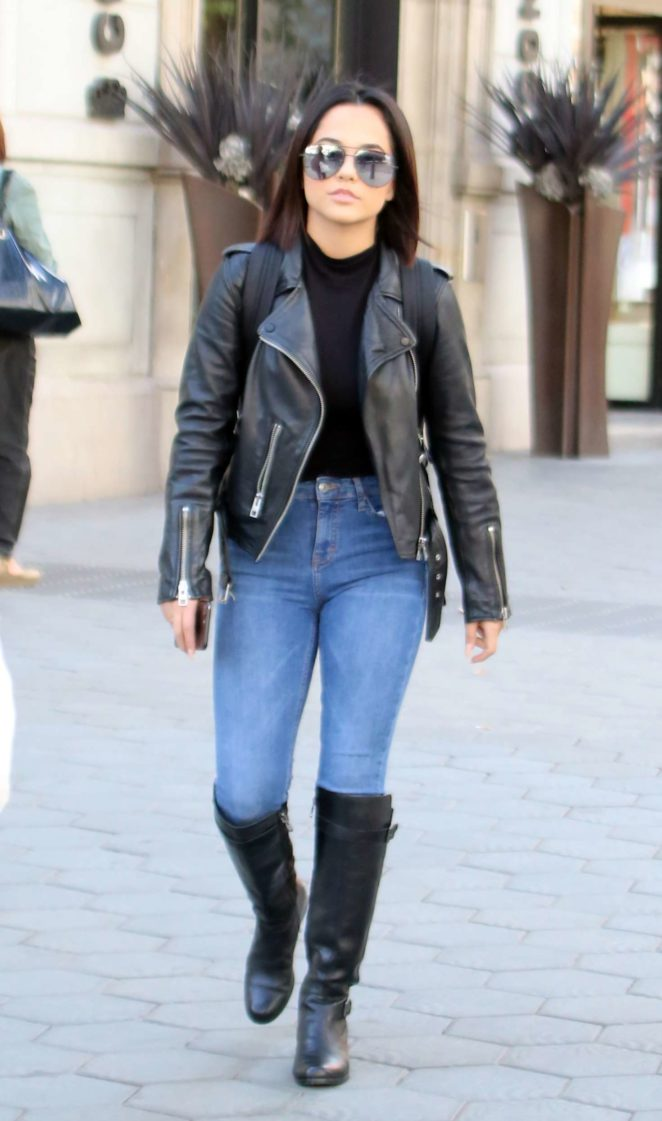 Becky G out in Barcelona