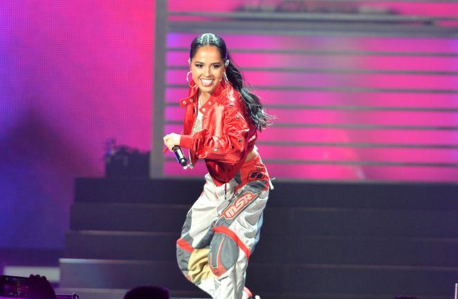 Becky G: Performs at iHeartRadio Fiesta Latina -09