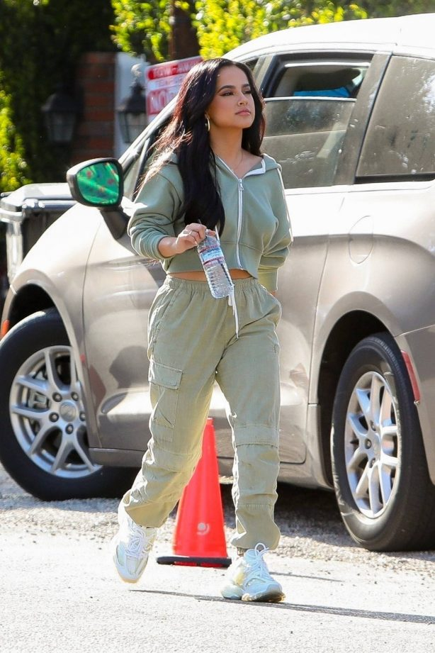 Becky G - Seen shooting a commercial in Los Angeles