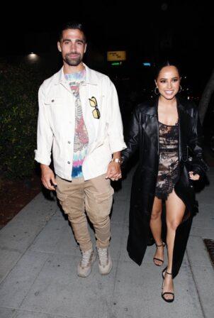 Becky G - with her boyfriend Sebastian Lletget at Delilah in West Hollywood