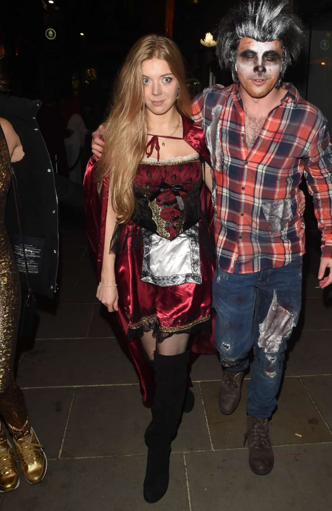 Becky Hill - Halloween Party at M Restaurant in London