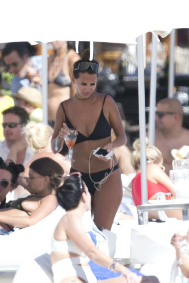 Becky Miesner in Black Bikini in Ibiza