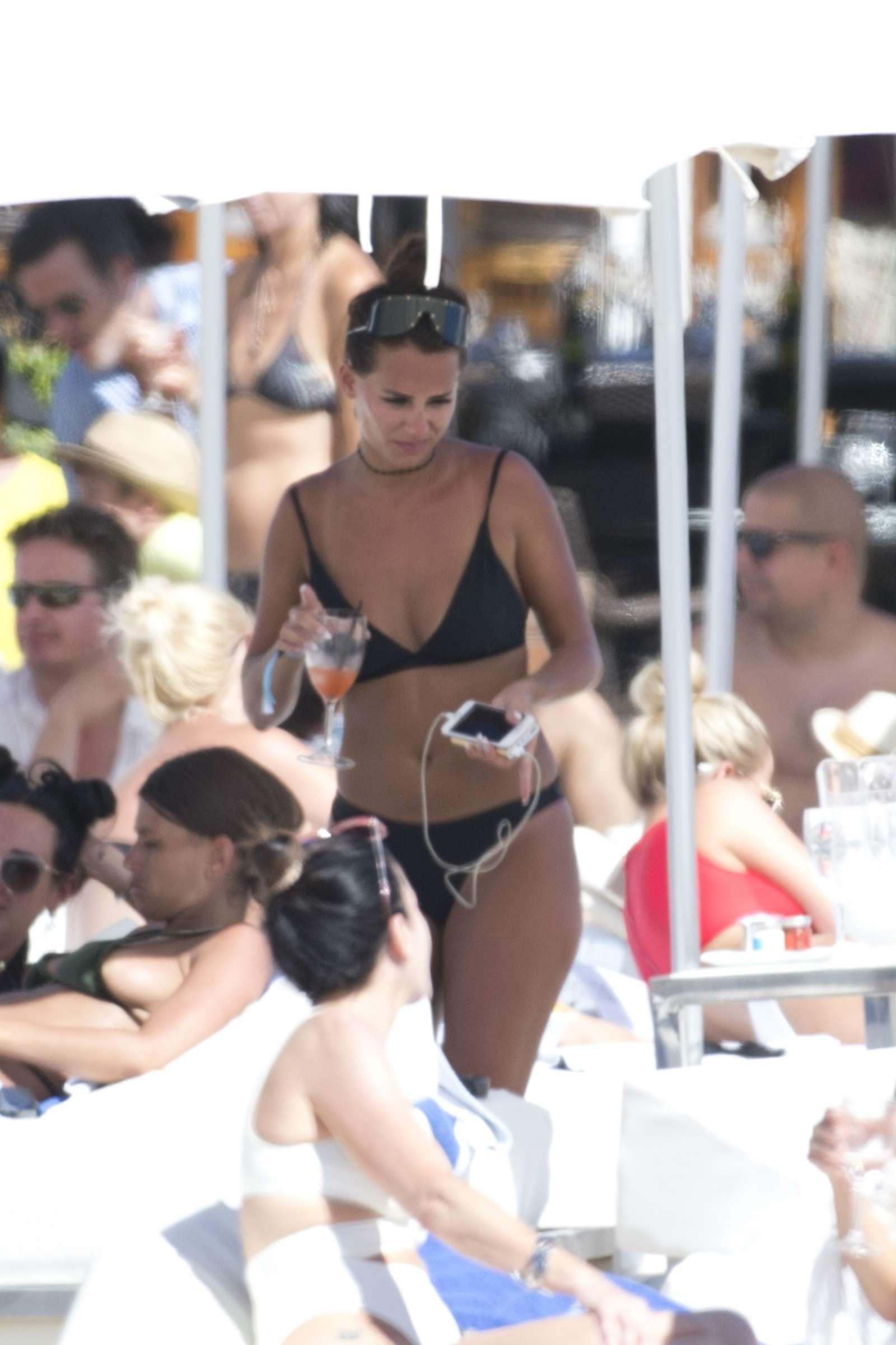 Becky Miesner in Black Bikini in Ibiza