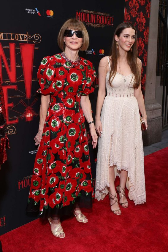 Bee Shaffer and Anna Wintour - Opening Night Arrivals for Moulin Rouge in New York