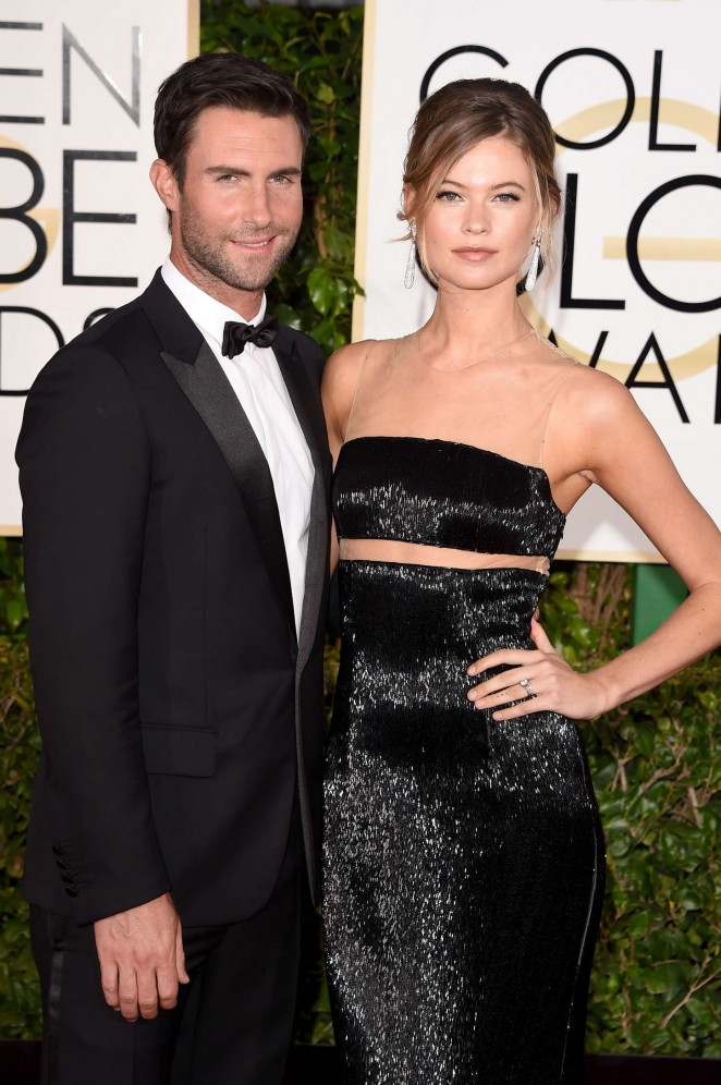 Behati Prinsloo - 2015 Golden Globe Awards in Beverly Hills