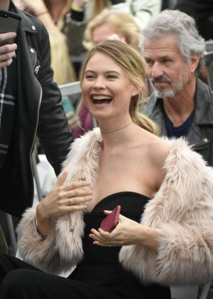 Behati Prinsloo - Adam Levine honored with star on The Hollywood Walk of Fame in LA