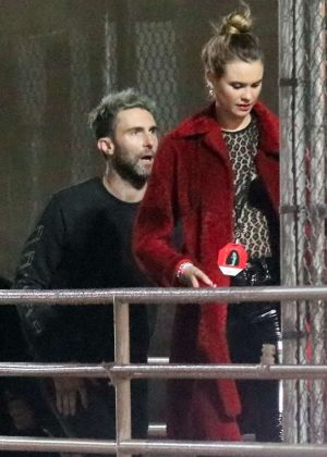 Behati Prinsloo and Adam Levine at Chris Cornell concert in Los Angeles