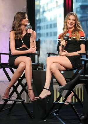 Behati Prinsloo and Taylor Marie Hill - AOL Build Series: Victoria's Secret Angels in New York