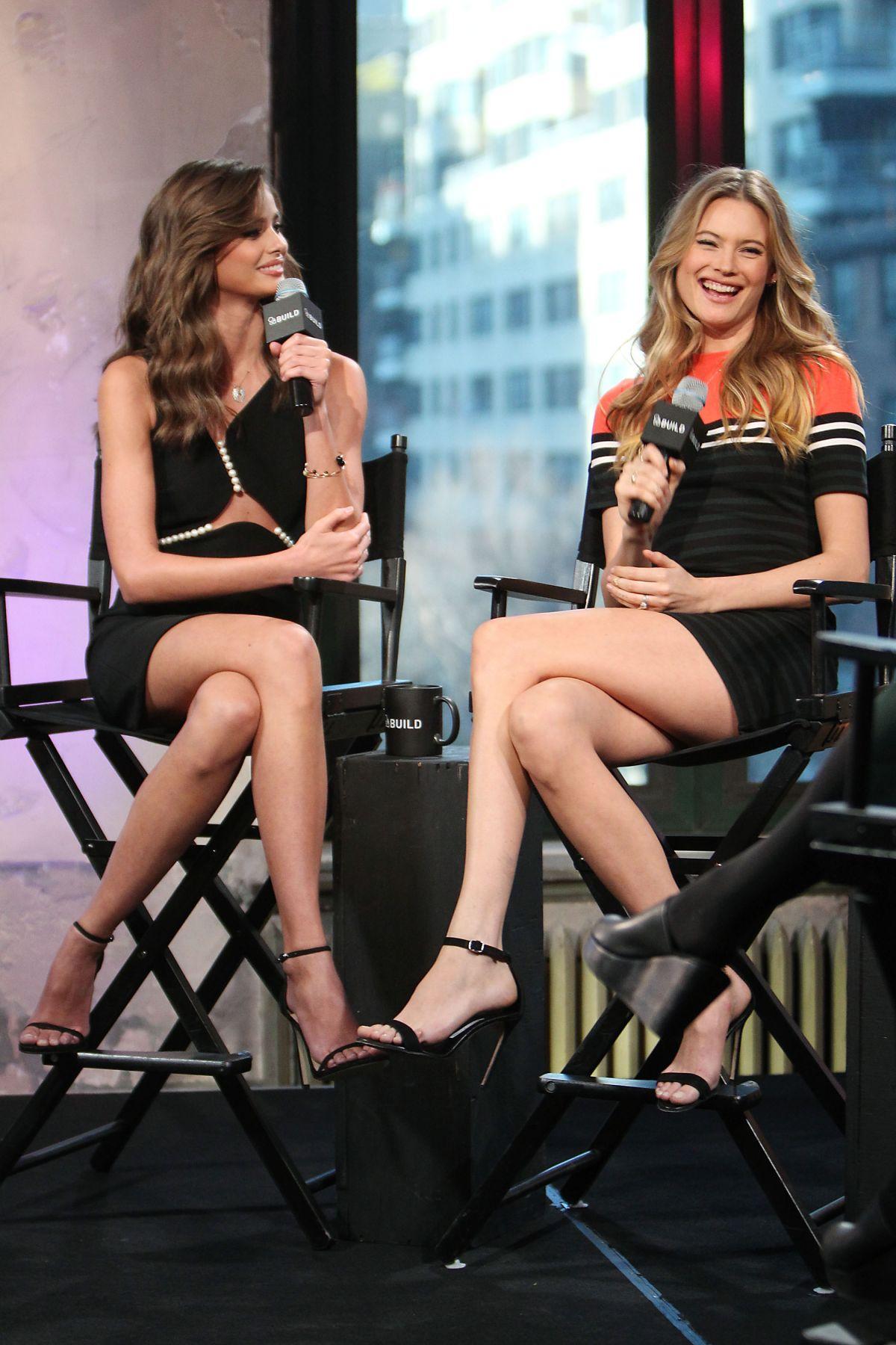 Behati Prinsloo And Taylor Marie Hill At Aol Build Series: Victoria's Secret Angels In New York