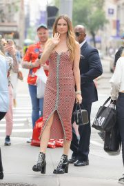 Behati Prinsloo - Arrives at AOL studios in New York