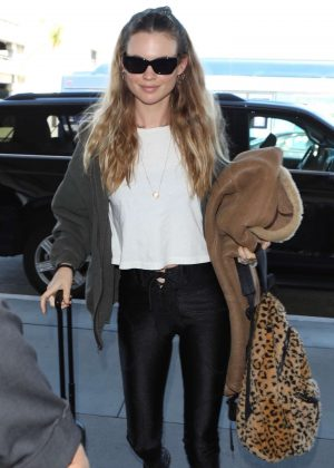 Behati Prinsloo - Arrives at LAX airport in Los Angeles