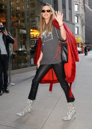 Behati Prinsloo - Arriving at the Victoria's Secret offices in New York