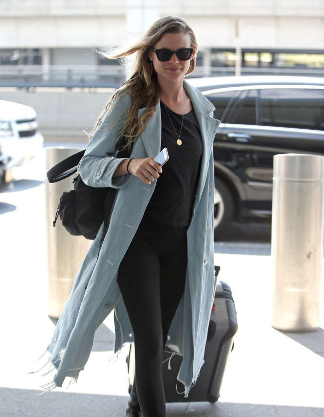 Behati Prinsloo at JFK airport in New York