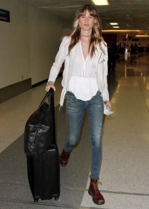 Behati Prinsloo Booty in Jeans at LAX -02