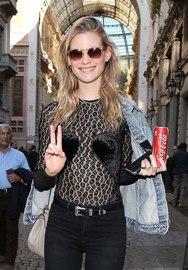 Behati Prinsloo at Milan Fashion Week S/S 2016 in Milan