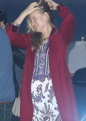 Behati Prinsloo at Nobu Restaurant in Malibu