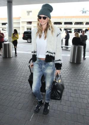 Behati Prinsloo in jeans LAX Airport in Los Angeles