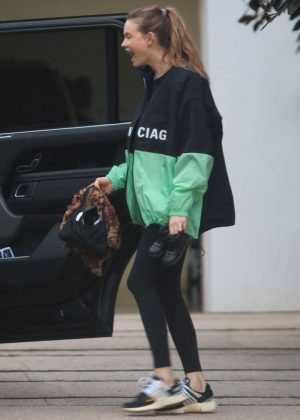 Behati Prinsloo in Tights - Out in Beverly Hills