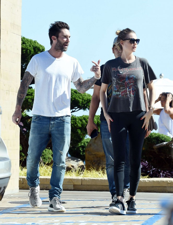 Behati Prinsloo Leaving Nobu Restaurant in Malibu