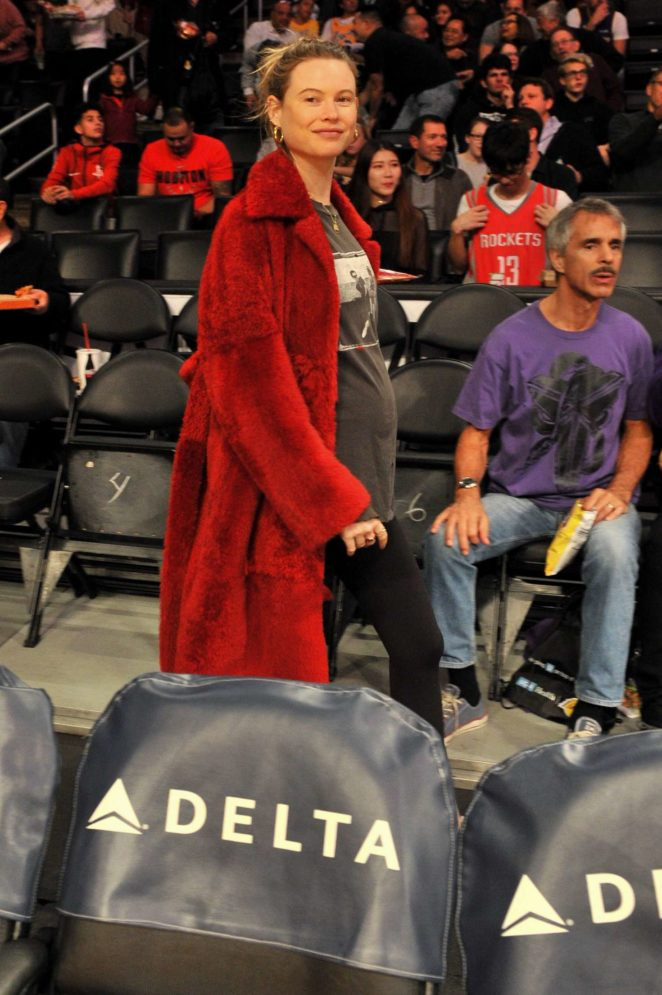 Behati Prinsloo - Los Angeles Lakers and the Houston Rockets basketball game in LA