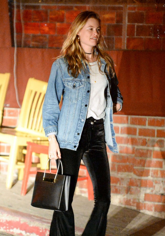 Behati Prinsloo night out in Hollywood
