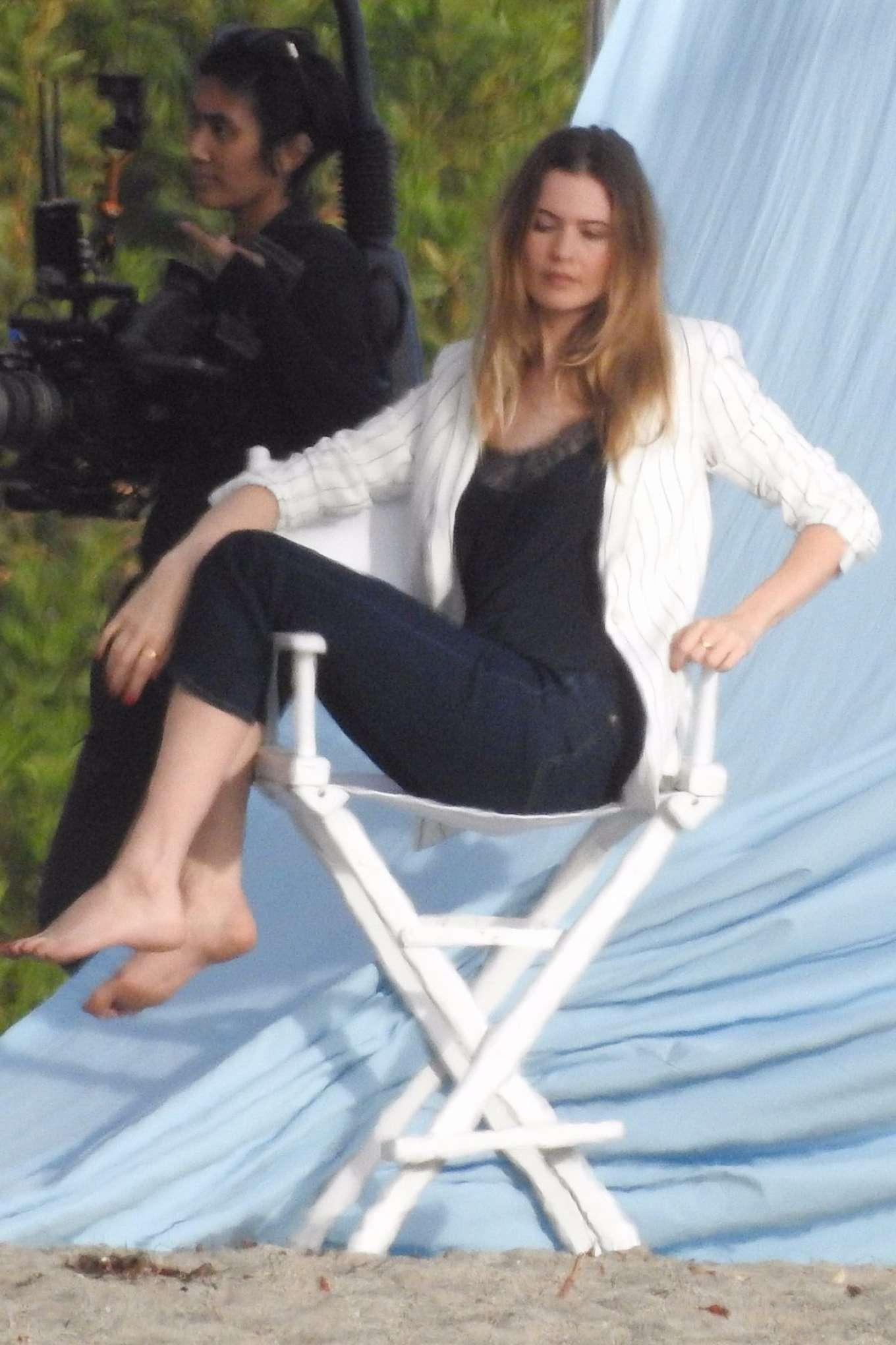 Behati Prinsloo - On the set of a photoshoot in Malibu