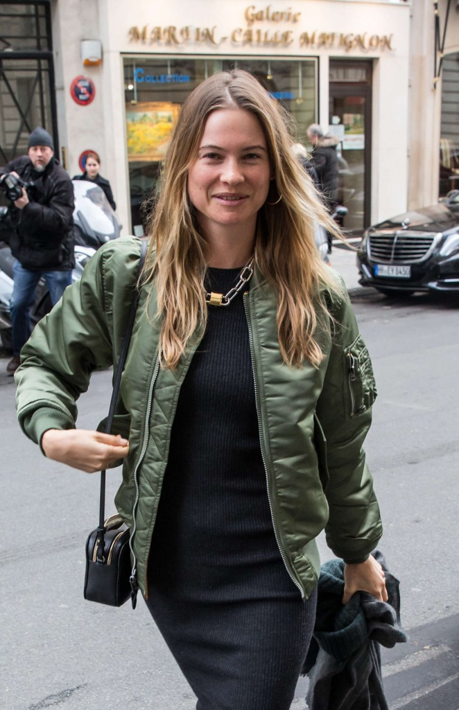 Behati Prinsloo out in Paris