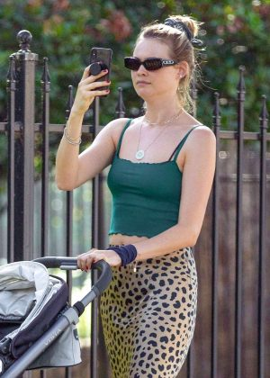 Behati Prinsloo - Out to lunch in Sherman Oaks