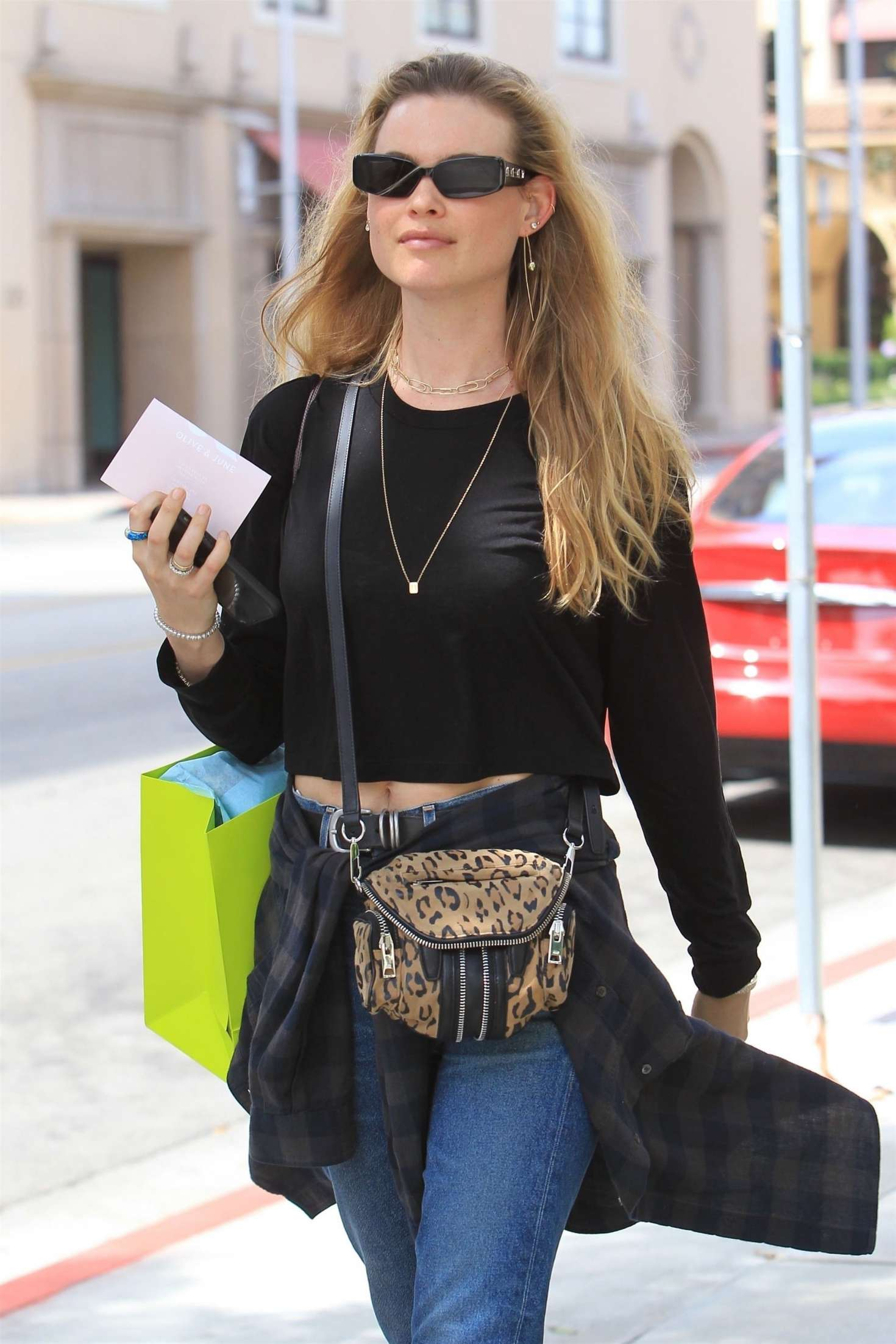 Behati Prinsloo - Shopping at Planet Blue in Beverly Hills