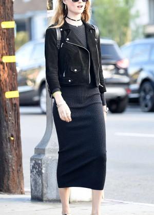 Behati Prinsloo in Tight Dress Shopping in LA