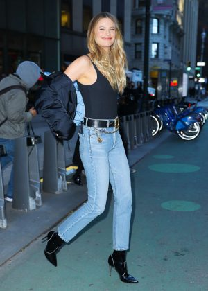 Behati Prinsloo - Victoria's Secret Fashion Show Fittings in New York