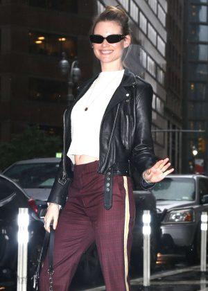 Behati Prinsloo - Victoria's Secret Fittings in New York