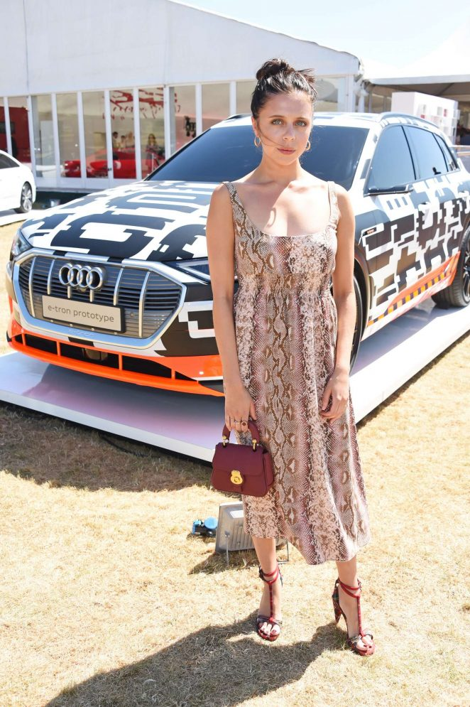 Bel Powley - Audi Polo Challenge in Berkshire