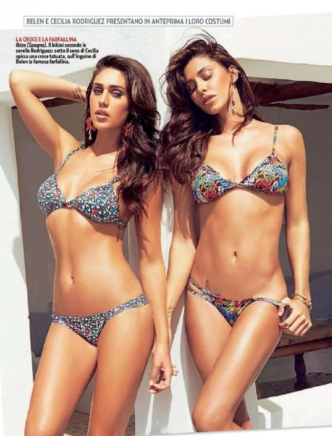 Belen & Cecilia Rodriguez - Gente Italy Magazine (May 2015)