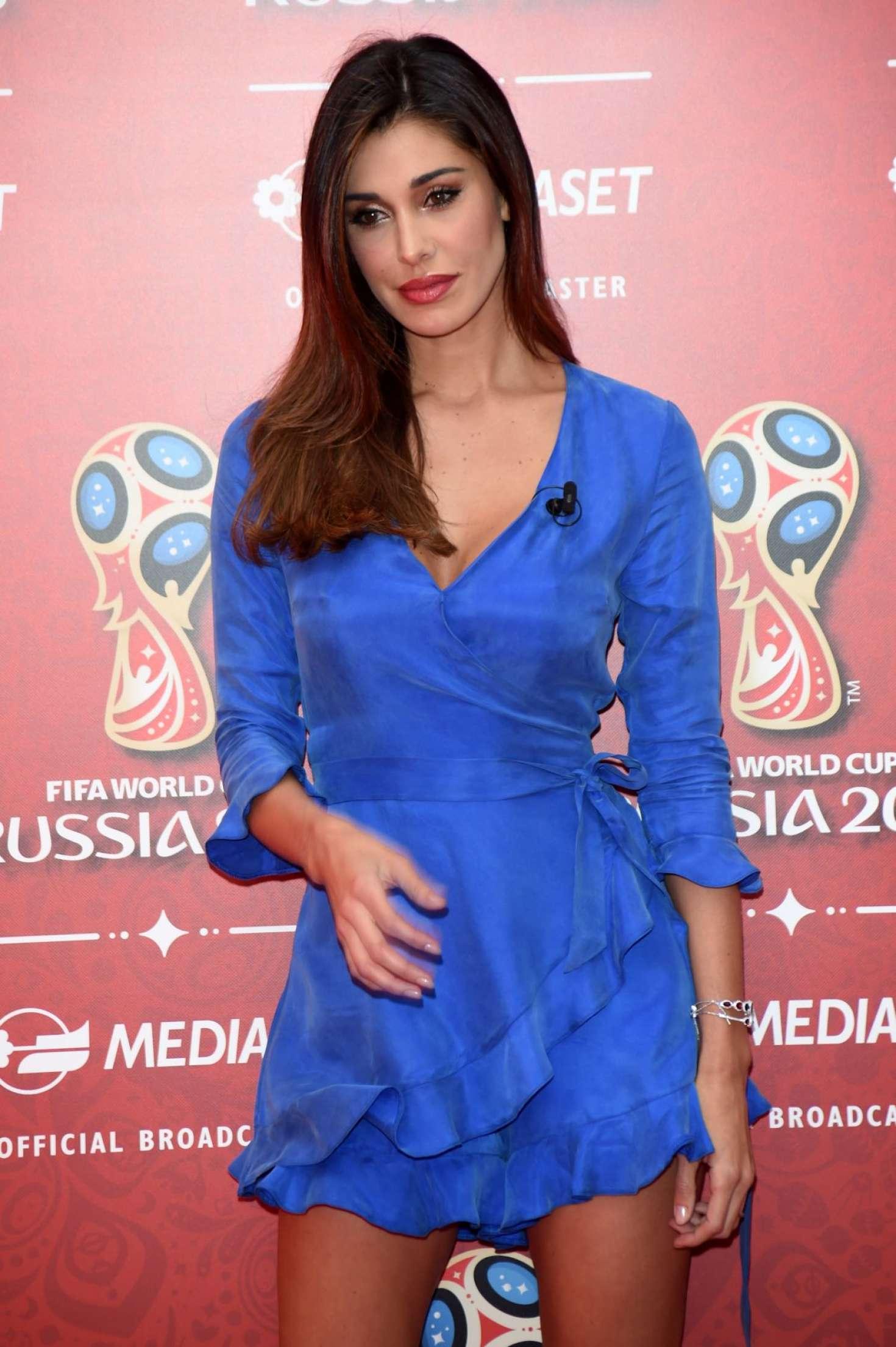 Belen Rodriguez - FIFA World Cup Russia 2018 TV Show in Milan